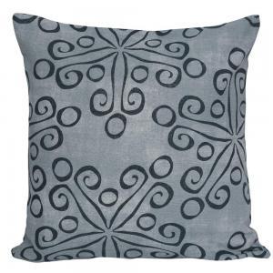 Kuddfodral, grafiskt mönster, blågrå