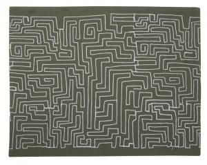 Bordstablett, 2-pack, labyrint, grön