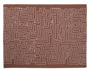 Bordstablett, 2-pack, labyrint, rosty rose