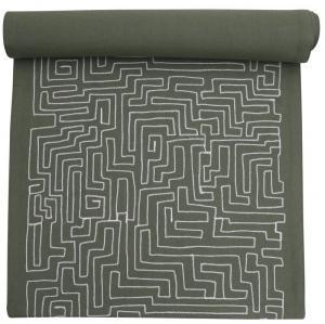 Löpare, labyrintmönster, grön
