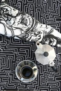 Bordstablett, 2-pack, labyrint, svart