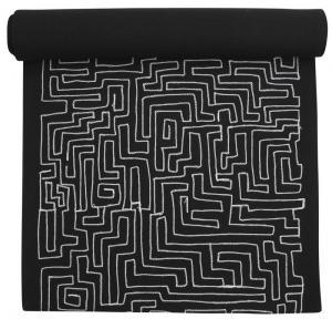 Löpare, labyrintmönster, svart