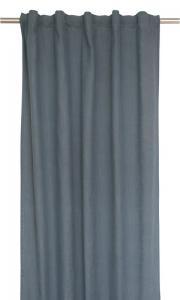 Extra långa gardinlängder i tvättad bomull, blå