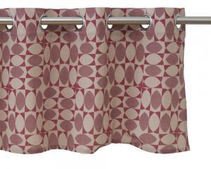 Grafiskt mönster designat av Björkforth som öljettkappa.