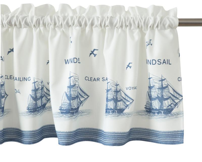 Gardinkappa på metervara, Windsail, båtmotiv