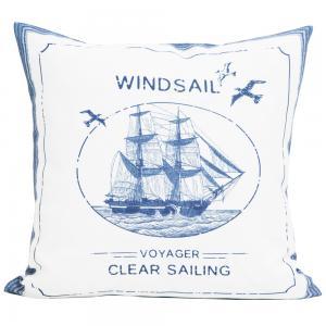 Kuddfodral Windsail från Svanefors i marint tema