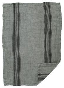 Kökshandduk i tvättat linne med grov struktur