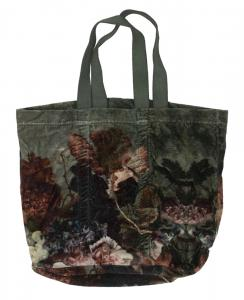 """Väska """"Lovisia"""" i sammet med motiv av naturen"""
