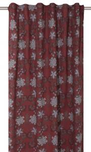"""Gardinlängder """"Velvia"""" med motiv av fina röda vinterblommor"""