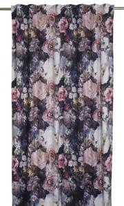 """Gardinlängder i sammet med digitaltryckta blommor i olika färger """"Aricela"""""""