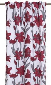 Gardinlängd Ammy med vackra Amaryllis, design Louise Videlyck, vit botten färg