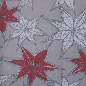 Metervara Julestjärn, med vackra stjärnor, design Louise Videlyck, på grå botten