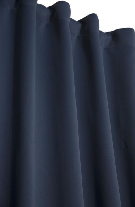 Mörkläggningsgardin, extra långa, från Svanefors, blå