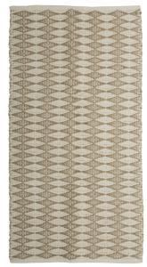 Matta Arama i tre storlekar med grafiskt mönster, beige