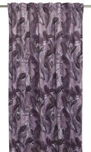 Gardinlängder Fons med motiv av vackra fjädrar i fin lila färg