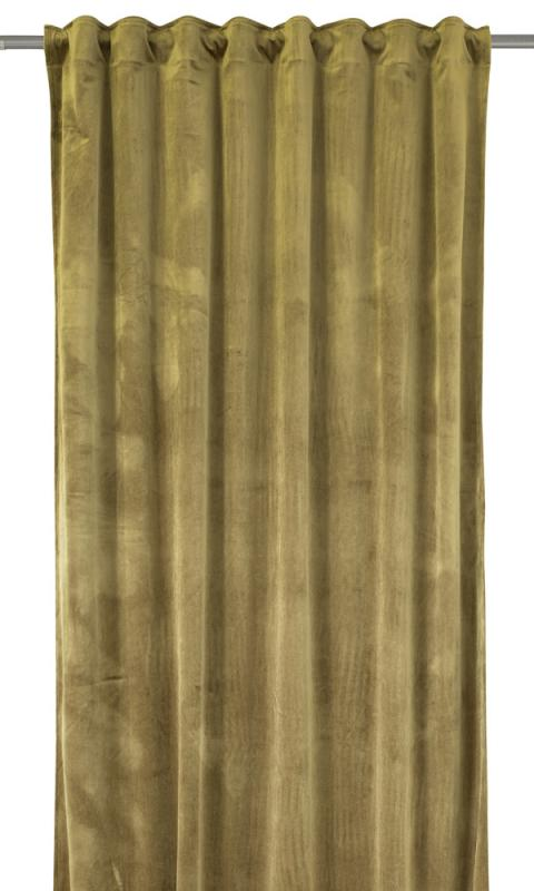 Sammetsgardin Beatrice med extra lyster och 280 cm lång, guld