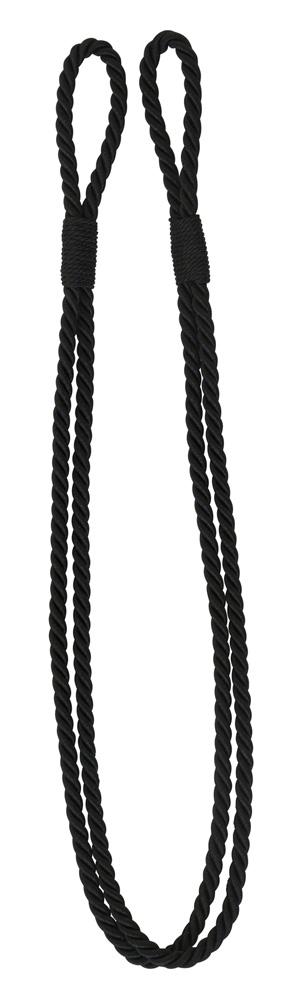 Enfärgat kabelomtag svart