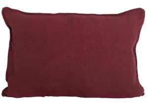 Avlångt kuddfodral i tvättat linne, Lovly, röd