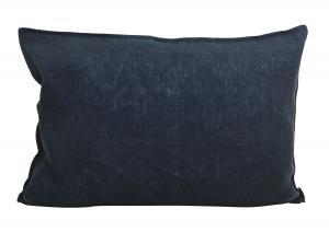 Avlångt kuddfodral i tvättat linne, Lovly, blå