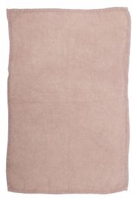 Handduk i tvättat linne, Lovely, rosa