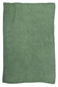 Handduk i tvättat linne, Lovely, grön