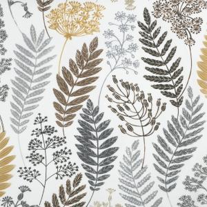 Metervara Kvistar och Blad av designern Betty Svensson, ockragul
