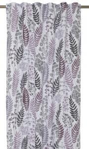 Gardinlängder Kvistar och Blad, design av Betty Svensson, lila-vinröd