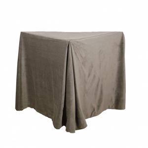 Sängkappa 45 cm hög, sammet,lin