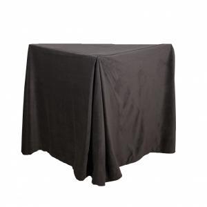 Sängkappa 45 cm hög, sammet, mörkgrå