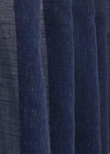 Gardinlängd Micky extra lång i tunn kvalite med snygg trådeffekt, blå