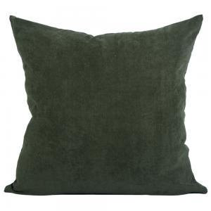 Kuddfodral Henry i smalspårig manchester, grön