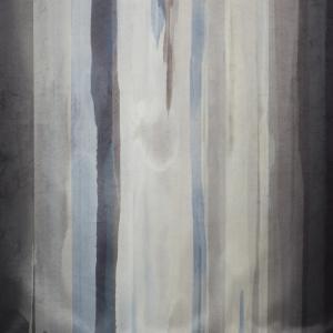 Metervara Blimma i sammet med mjuka ränder, blå