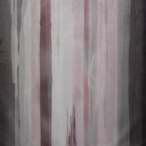 Metervara Blimma i sammet med mjuka ränder, rosa