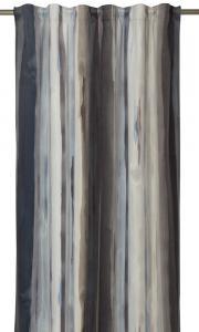 Gardinlängd Blimma i sammet med mjuka ränder, extra lång, blå