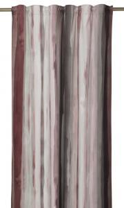 Gardinlängd Blimma i sammet med mjuka ränder, extra lång, rosa