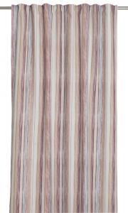 Gardinlängd Denni extra lång med ränder i mjuka rosa nyanser