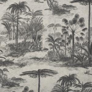 Metervara Palms, linnefärgad botten med palmer