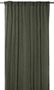 Gardinlängd Rimy i tunn skir kvalité, extra lång, grön