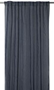 Gardinlängd Rimy i tunn skir kvalité, extra lång, blå