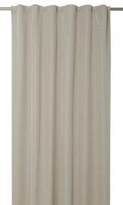 Gardinlängd Romby extra lång i sammet med diagonalrutigt mönster, beige