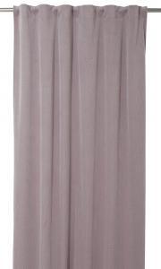 Gardinlängd Romby extra lång i sammet med diagonalrutigt mönster, rosa