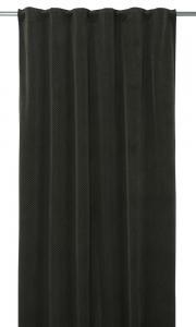 Gardinlängd Romby extra lång i sammet med diagonalrutigt mönster, grön