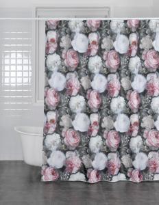 Duschdraperi Angelina, digitaltryck med ljuvliga rosor