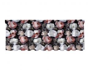 Gardinkappa i sammet, Angelina med rosor i vitt och rosa