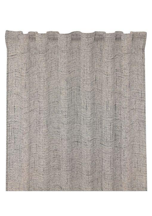 Gardinlängd Arizona, 300 cm, mörkläggande tyg med struktur, ljusgrå