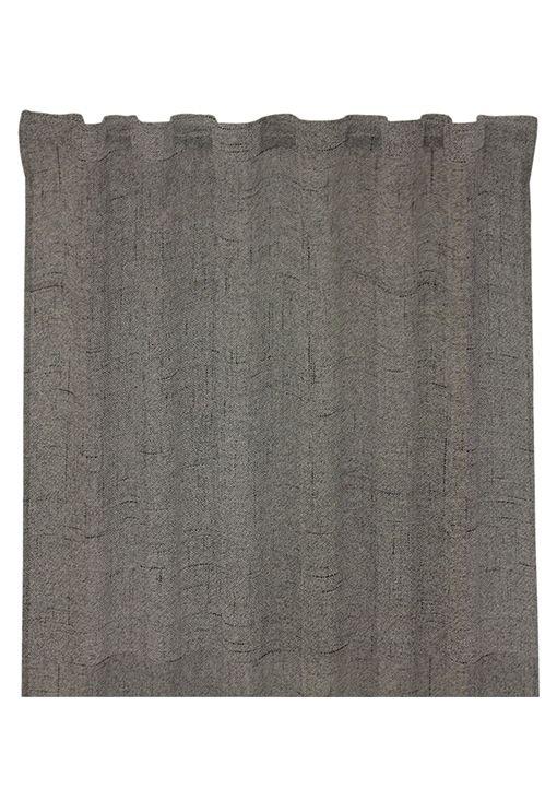 Gardinlängd Arizona, 300 cm, mörkläggande tyg med struktur, mörkgrå