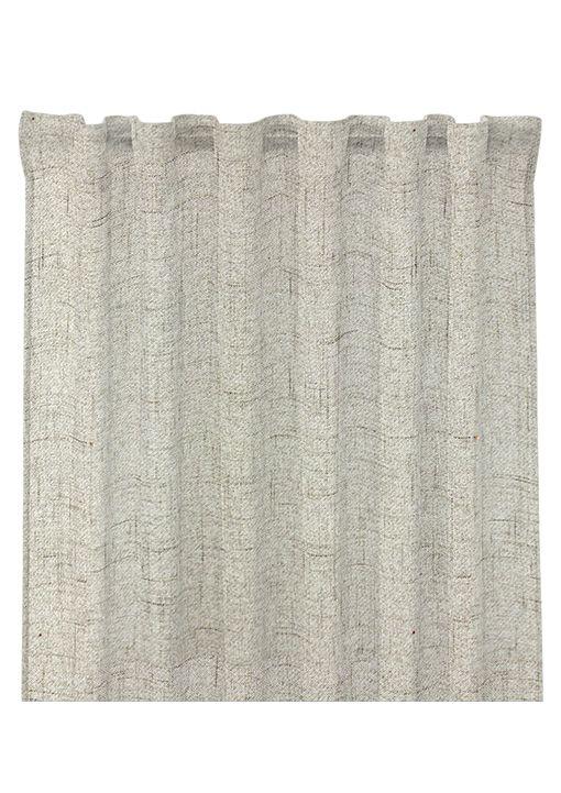 Gardinlängd Arizona, 300 cm, mörkläggande tyg med struktur, sand
