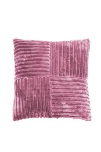 Fylld prydnadskudde Baloo i bredspårig mjuk manchester, rosa