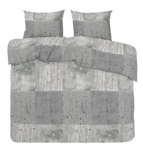 Bäddset Betong, betongmönster färg grå