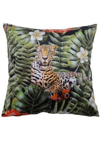 Kuddfodral Big Cat Leopard i sammet